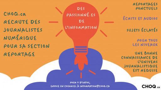 CHOQ.ca recrute des journalistes numériques!