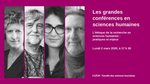 L'éthique de la recherche en sciences humaines : pratiques et enjeux