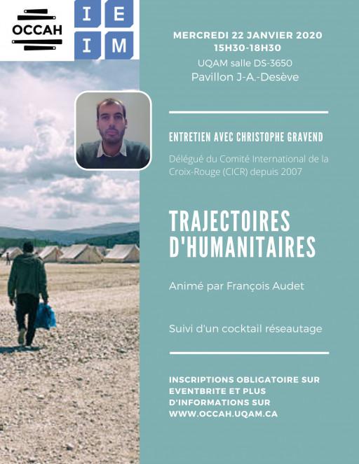 Trajectoires d'humanitaires: «Entretien avec Christophe Gravend»