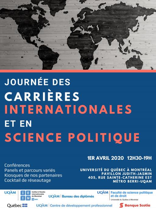ANNULÉ - Journée des carrières internationales et en science politique