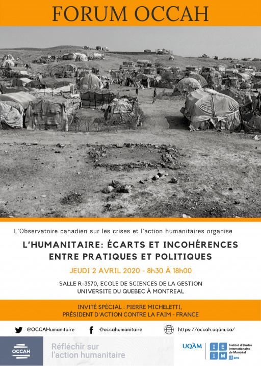 REPORTÉ - L'humanitaire, écarts et incohérences entre pratiques et politiques