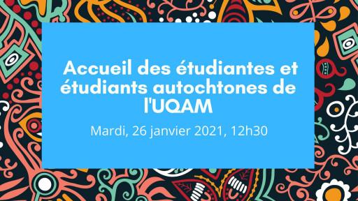 Rencontre d'accueil pour les étudiants autochtones
