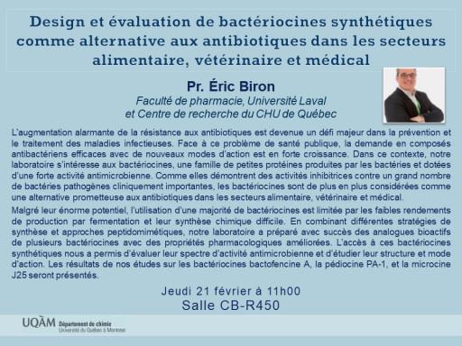 Pr. Éric Biron, Faculté de pharmacie, Université Laval et Centre de recherche du CHU de Québec