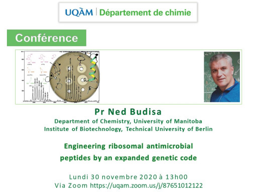 «Engineering ribosomal antimicrobial peptides by an expanded genetic code» du Pr Ned Budisa