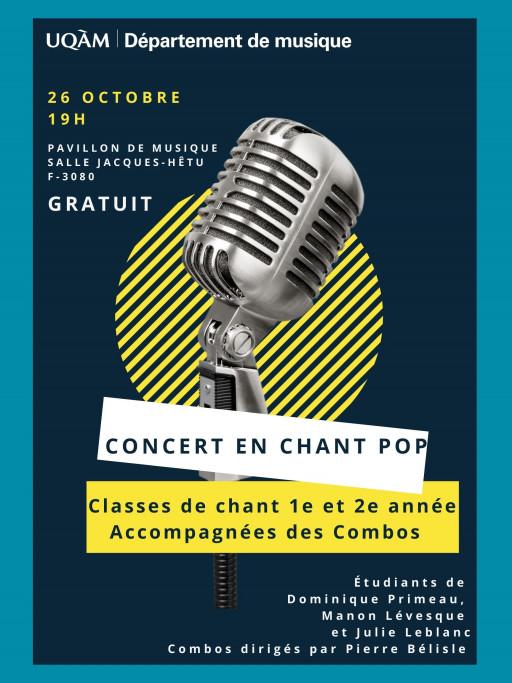 Concert en chant pop!