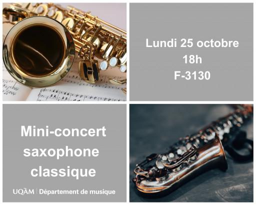 Mini-concert de saxophone classique