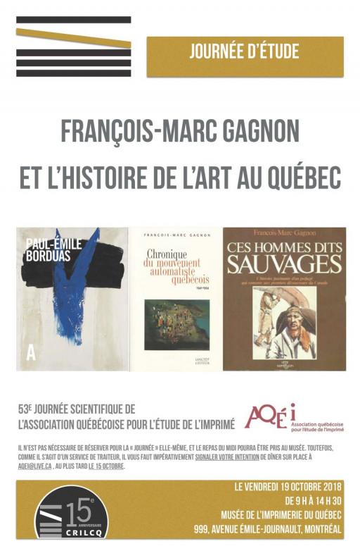 Journée d'étude François-Marc Gagnon