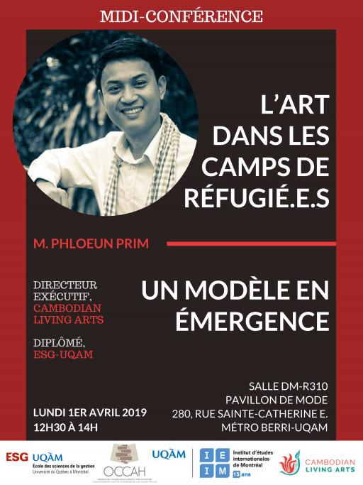 L'art dans les camps de réfugié.e.s : un modèle en émergence