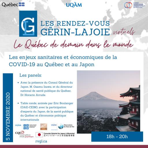 Les enjeux sanitaires et économiques de la COVID-19 au Québec et au Japon