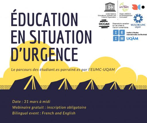 Éducation en situation d'urgence : le parcours d'étudiant.es parrainné.es par l'EUMC-UQAM