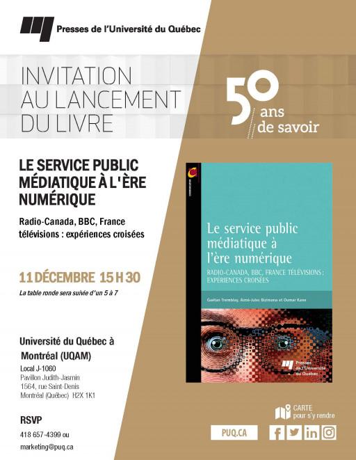Lancement + 5@7 : «Le service public à l'ère numérique»