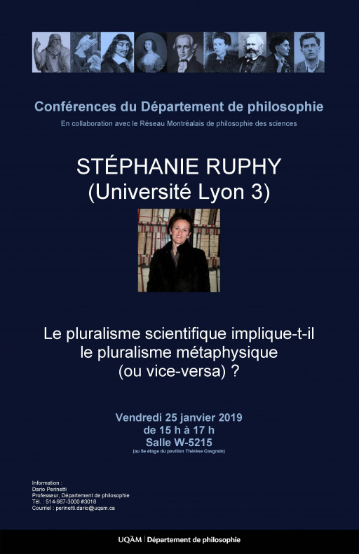 Le pluralisme scientifique implique-t-il le pluralisme métaphysique (ou vice-versa) ?