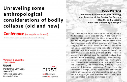 Unraveling some anthropological considerations of bodily collapse (old and new)