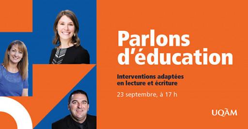 Parlons d'éducation : interventions adaptées en lecture et écriture