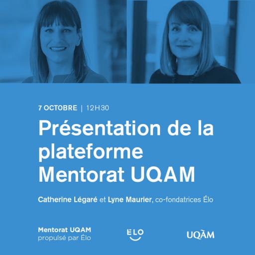 Présentation de la plateforme Mentorat UQAM