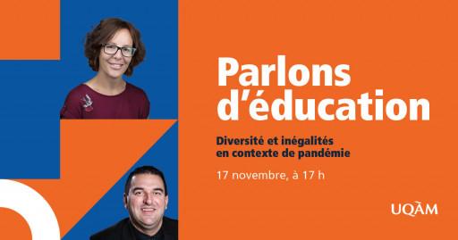 Parlons d'éducation : Diversité et inégalités en contexte de pandémie
