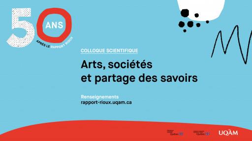 Arts, sociétés et partage des savoirs