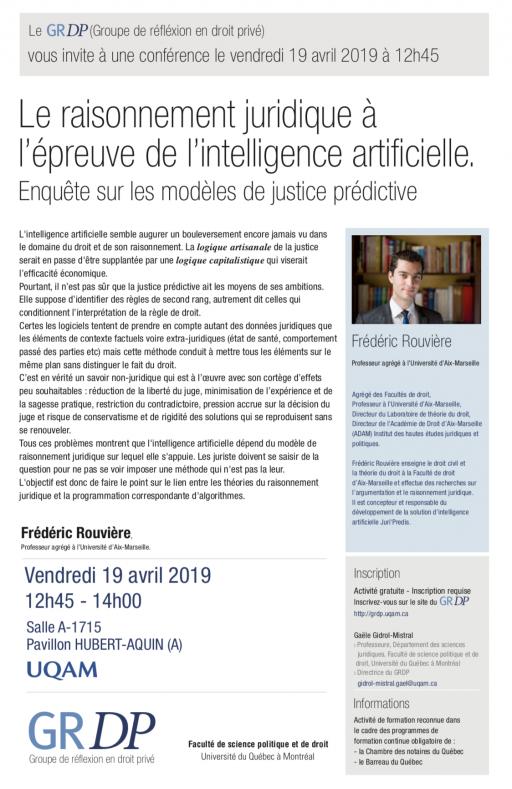 Le raisonnement juridique à l'épreuve de l'intelligence artificielle - Enquête sur les modèles de justice prédictive