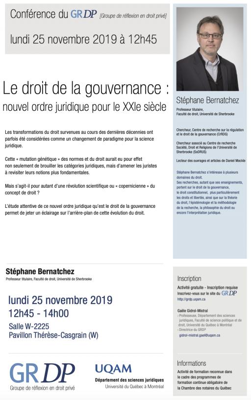 Le droit de la gouvernance : nouvel ordre juridique pour le XXIe siècle