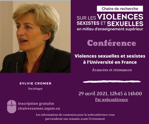Violences sexuelles et sexistes à l'Université en France: avancées et résistances