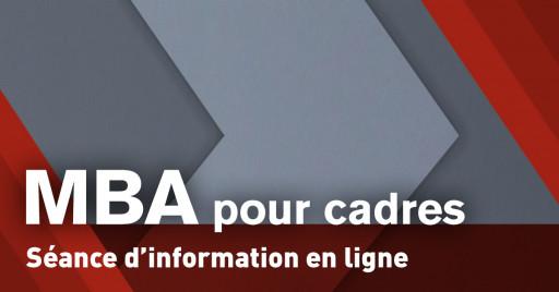 Séance d'information en ligne - Tout savoir sur le MBA pour cadres (EMBA)