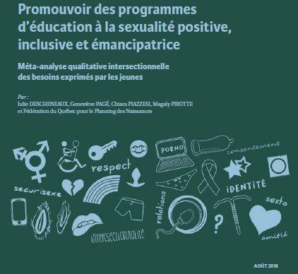 Promouvoir des programme d'éducation à la sexualité positive, inclusive et émancipatrice Méta-analyse qualitative intersectionnelle des besoins exprimés par les jeunes : lancement du rapport de recherche