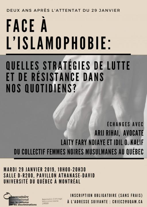 Face à l'islamophobie: Quelles stratégies de lutte et de résistance dans nos quotidiens?