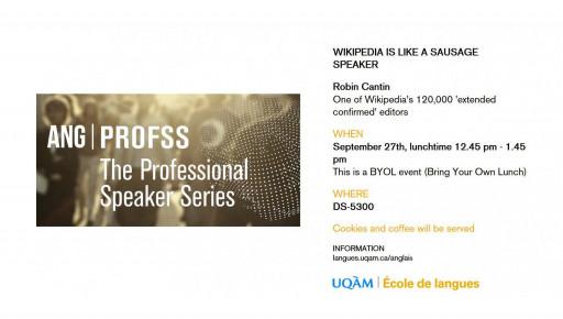 Professional Speaker Series - PROFSS