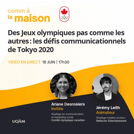 Comm à la maison: «Des Jeux olympiques pas comme les autres : les défis communicationnels de Tokyo 2020»