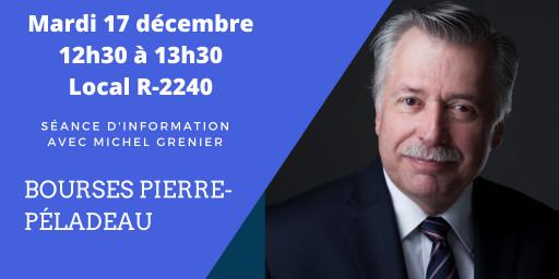 Séance d'information: «Bourses Pierre-Péladeau»