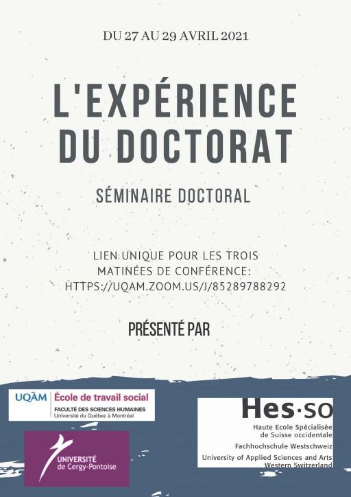 Séminaire doctoral: «Expérience du doctorat»