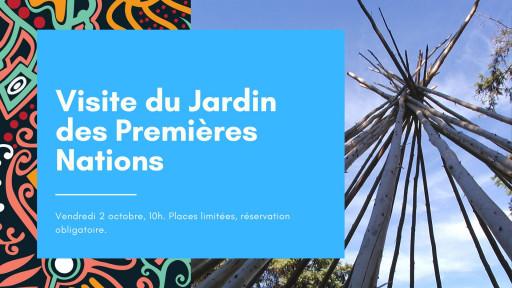 Visite du Jardin des Premières Nations (pour étudiants autochtones)