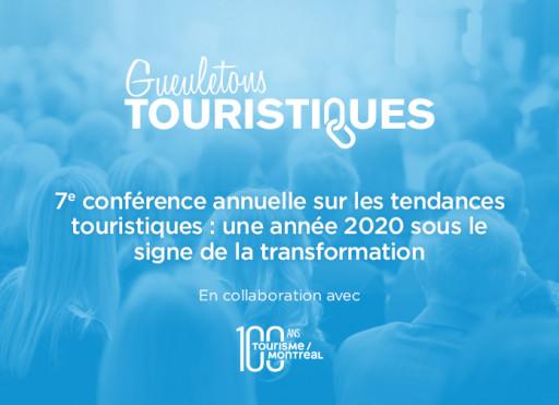 7e conférence annuelle sur les tendances touristiques: une année 2020 sous le signe de la transformation