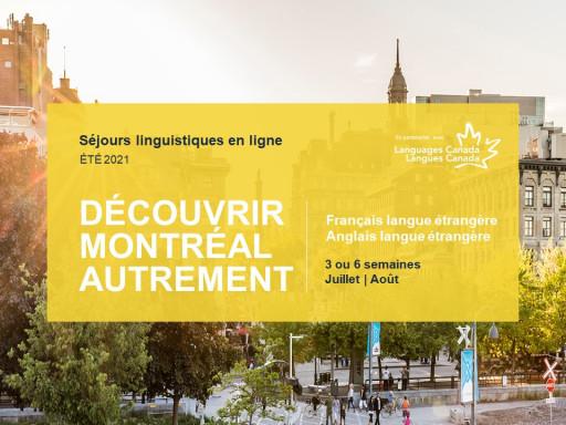 Séjour linguistique en ligne: Découvrez Montréal autrement!