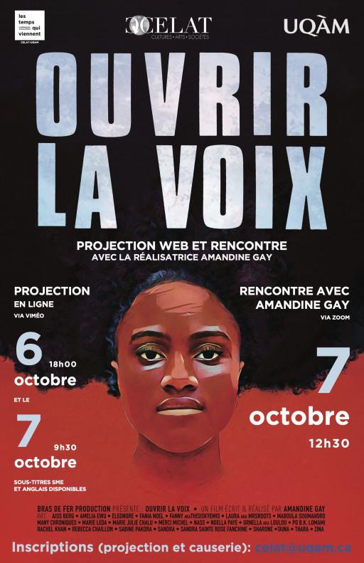 Projection en ligne du film «Ouvrir la voix», suivi d'une rencontre avec la réalisatrice Amandine Gay