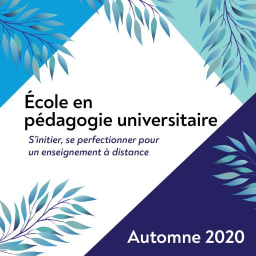 École en pédagogie universitaire - Automne 2020