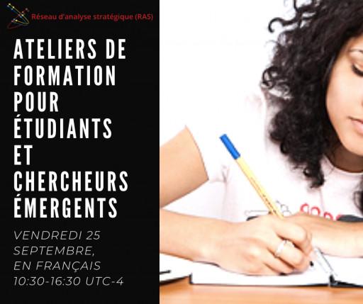 Ateliers de formation pour étudiants et chercheurs émergents