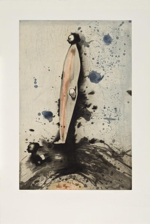 Louis-Pierre Bougie, Deux petits profils, aquatinte et burin, 1990
