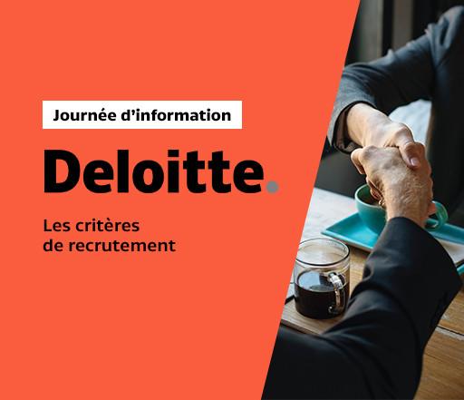 Les critères de recrutement avec l'entreprise Deloitte