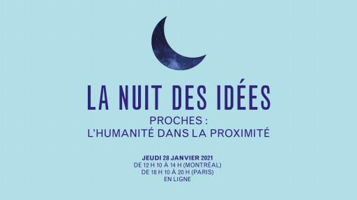 La nuit des idées en mode virtuel à la Galerie de l'UQAM