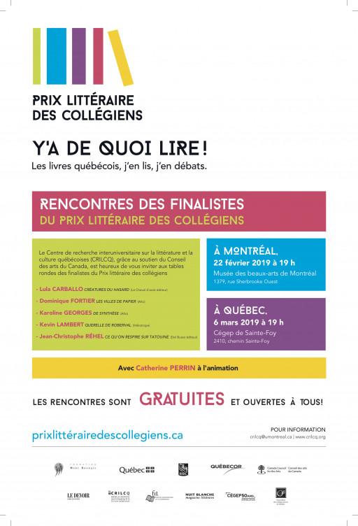 Tables rondes du Prix littéraire des collégiens - Montréal