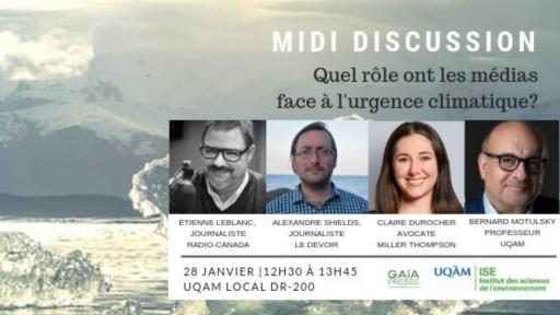 Midi-discussion: Quel rôle ont les médias face à l'urgence climatique?
