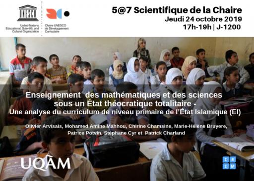 Enseignement des mathématiques et sciences sous un État théocratique totalitaire - Une analyse du curriculum de niveau primaire de l'État Islamique (EI)
