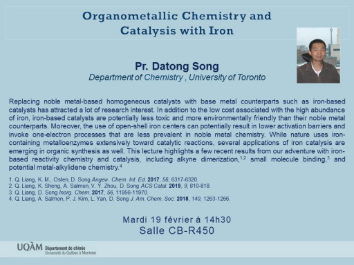 Pr. Datong Song, Department of Chemistry , University of Toronto