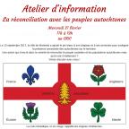 Atelier d'information : la réconciliation avec les peuples autochtones