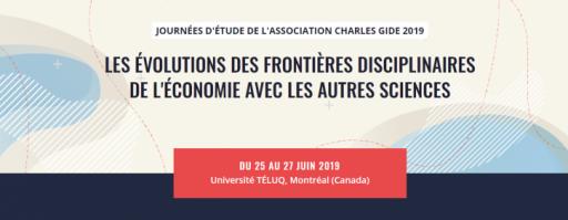 Journées d'étude de l'Association Charles Gide 2019