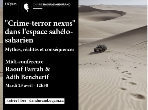 «Crime-terror nexus» dans l'espace sahélo-saharien: mythes, réalités et conséquences