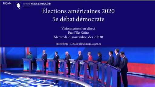 Élections américaines 2020 – Visionnement du 5e débat du Parti démocrate