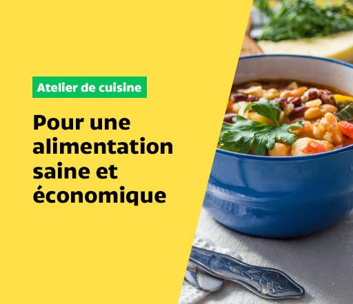 Atelier de cuisine collective : pour une alimentation saine et économique!