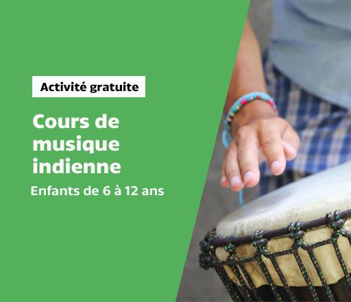 Cours de musique classique indienne pour les enfants de 6 à 12 ans